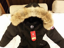 "BRAND NEW ""RED LABEL"" 100% LADIES BLACK CANADA GOOSE KENSINGTON S PARKA JACKET"