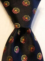 ERMENEGILDO ZEGNA Men's 100% Silk Necktie ITALY Luxury Geometric Blue/Purple EUC