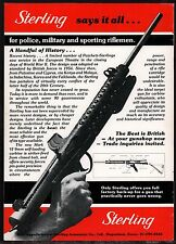 1982 Sterling Mark Vi 9mm Carbine Rifle Ad British Uk Advertising