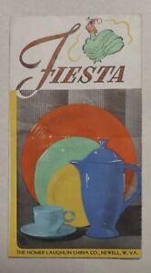 10/25 Vintage 1939 Fiesta Dinnerware Price List Brochure Waco Hdwe.& Auto Supply