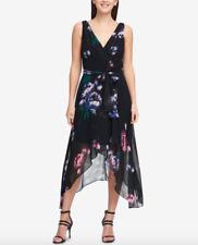DKNY V-Neck Chiffon Wrap Dress Size 4