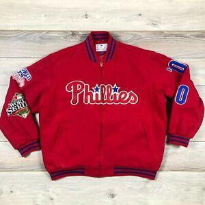 Philadephia Phillies World Series Champions 1980 2008 MLB Baseball Jacket sz XXL