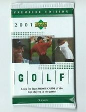 2001 UD Upper Deck GOLF 1 Pack Hobby from Rack Box 5 Cards per Pack