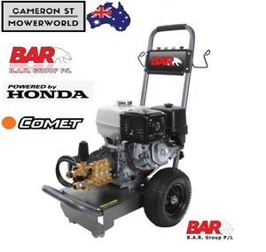 BAR Honda GX390 Petrol Pressure Washers 4000 PSI Comet Pump 390cc Heavy Hose