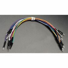 JW-D1-MM Cable de puente de cables Dupont rápida de M-M 26AWG 1 Pin 2.54 mm pitch - 15 cm Pk10