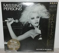MISSING PERSONS - RHYME & REASON - UICY-77294 - JAPAN - NUOVO NEW - SHM-CD