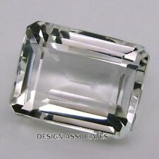 DIAMOND WHITE SAPPHIRE 7 X 5 MM EMERALD CUT VVS