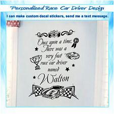 Custom Personalized Name Race Car Driver Wall Decor Art Vinyl Sticker Decal 091
