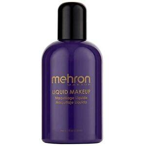 Mehron Makeup Liquid Face and Body Paint Purple Professional Water Base 4.5 Oz