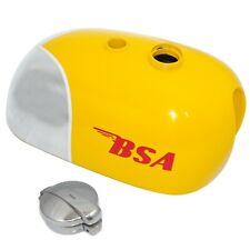 BSA B25 B40 B44 C15 Victor Enduro Trials Scrambler Alloy Yellow Fuel Tank S2u