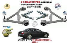 FOR JAGUAR S TYPE 1999-> 2X REAR UPPER SUSPENSION TRACK CONTROL ARMS SET + BOLTS
