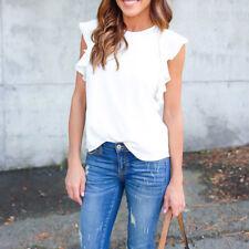 Fashion Women Lady Summer Chiffon Short Sleeve Casual Shirt Tops Blouse T-Shirt