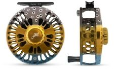 ABEL SUPER 4/5 FLY FISHING REEL IN WILD TROUT COLOR, FREE $130 LINE + SHIPPING
