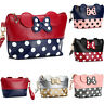 Mickey Mouse Make up Polka Dot Travel Cosmetic Bag Case Pouch Clutch Bag Handbag