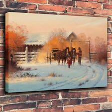 Art Print Repro Oil Painting on Canvas Home Decor - Harvey G In His Footsteps