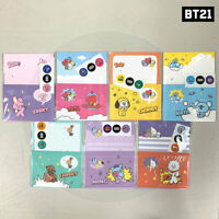 BTS BT21 Official Authentic Goods BBAEGGOM Letter 7SET + Tracking Number