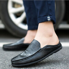 Fashion Mens Comfy Leather Flats Driving Moccasin Loafers Casual Boat Shoes
