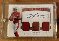 2019 National Treasures NFL Gear Kyler Murray RC Rookie RPA Dual Patch AUTO /99