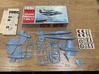 FROG 1/72 GLOSTER METEOR F.MK.IV vintage kit model Plane - unbuild complete