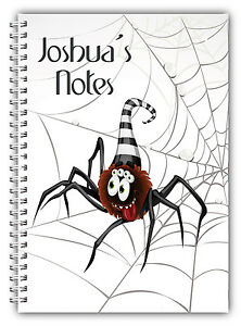 PERSONALISED HALLOWEEN A5 NOTEBOOK/ NOTEBOOK/ NOTE PAD LINED/HALLOWEEN GIFT 3