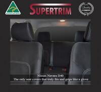 Premium Neoprene Waterproof Front & Rear Seat Covers Fit Nissan Navara D40 ST ST