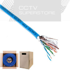 Cat5e Cat5 FTP 1000ft Shielded Solid Bulk Cable Ethernet Lan Network Blue Wire