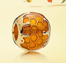 Genuine Pandora SHINE 18K Gold Plated Silver Golden Honey Charm 767120EN158