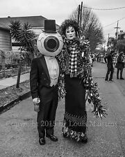 """THE RESIDENTS on Mardi Gras, Avant Garde 8x10"""" SIGNED PHOTO by Louis Maistros"""