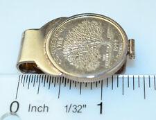 STERLING SILVER COIN MONEY CLIP 1999 CT CONNECTICUT QUARTER CHARTER OAK TREE