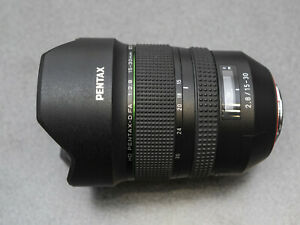 Pentax DFA15-30 f2.8ED SDM WR lens w/- Benro FH150 filter system and Lee filters