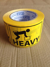 500 Heavy Labels 100x72mm Fluoro Yellow Perforated Sticker Roll
