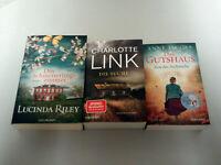 CHARLOTTE LINK, ANNE JACOBS, LUCINDA RILEY, 3 Romane der Spitzeklasse, sehr gut!