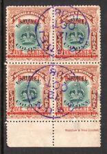 Brunei. Labuan Crown. 1906. 5c on 16c.  Margin Block of Four . Used.  SG16