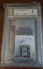 07-08 The Cup Jonathan Bernier #128 BGS 8.0 RPA 3 CLR JERSEY AUTO ROOKIE WOW!!!
