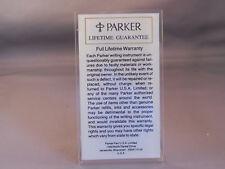 Parker Vintage Advertising Counter Card-Lifetime Guarantee
