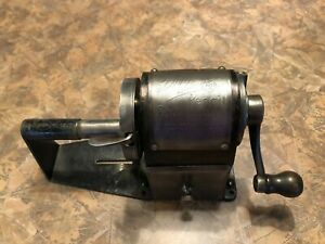 Working Dandy Metal Automatic Feed Pencil Sharpener Patented 1907 Wood Knob