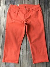"New Levis Capri Jeans Womens Plus 20 W Shaping Denim Crop Pant Coral  24"" Inseam"