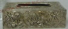 Vintage Embossed Silver Plate Tissue Box Cover