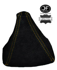 YELLOW STITCH REAL SUEDE GEAR GAITER SHIFT BOOT FITS HONDA S2000 1999-2009