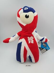 """Paralympic Game B1908 London 2012 Wenlock Plush 9.5"""" Stuffed TAG Toy Doll"""