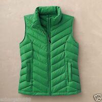 New $100 TravelSmith Women's Packable Down Chevron Vest - 90% Down, Winter Green
