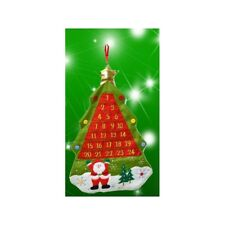 Calendario dell' Avvento Feltro Da Appendere Decorazione Natale Bambini Rosso
