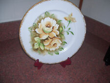 NORLEANS PLATE WITH HANGER JAPAN YELLOW FLOWERS ON LIGHT BLUE