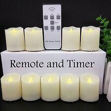Moving Wick Led Flameless Candles LED Votive Tea w/ Remote Control Timer 9 Pcs