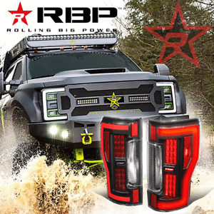 RBP TL565-NLD [SEQUENTIAL LED TURN SIGNAL] TAIL LIGHTS FOR 17-19 FORD F250 F350