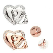 2x Universal 360 Rotating Finger Ring Stand Holder for Cell Phone -heart of Love