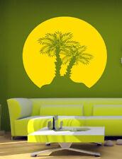 PALM TREE SUNSET Wall Art Vinyl Sticker Room Decal Mural Decor Art Beach bo2347