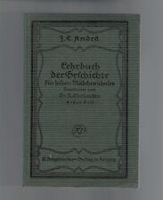 J.C.Andrä - Lehrbuch der Geschichte Das Altertum - 1921