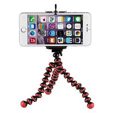 YemotaPro Stativ iPhone 5 5S 6 Ständer Halterung Tripod Kamera Foto Handy Rot