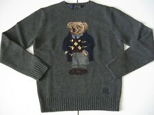 POLO RALPH LAUREN Men's Intarsia-Knit Polo Bear Wool Sweater 2014 EDITION!!! M